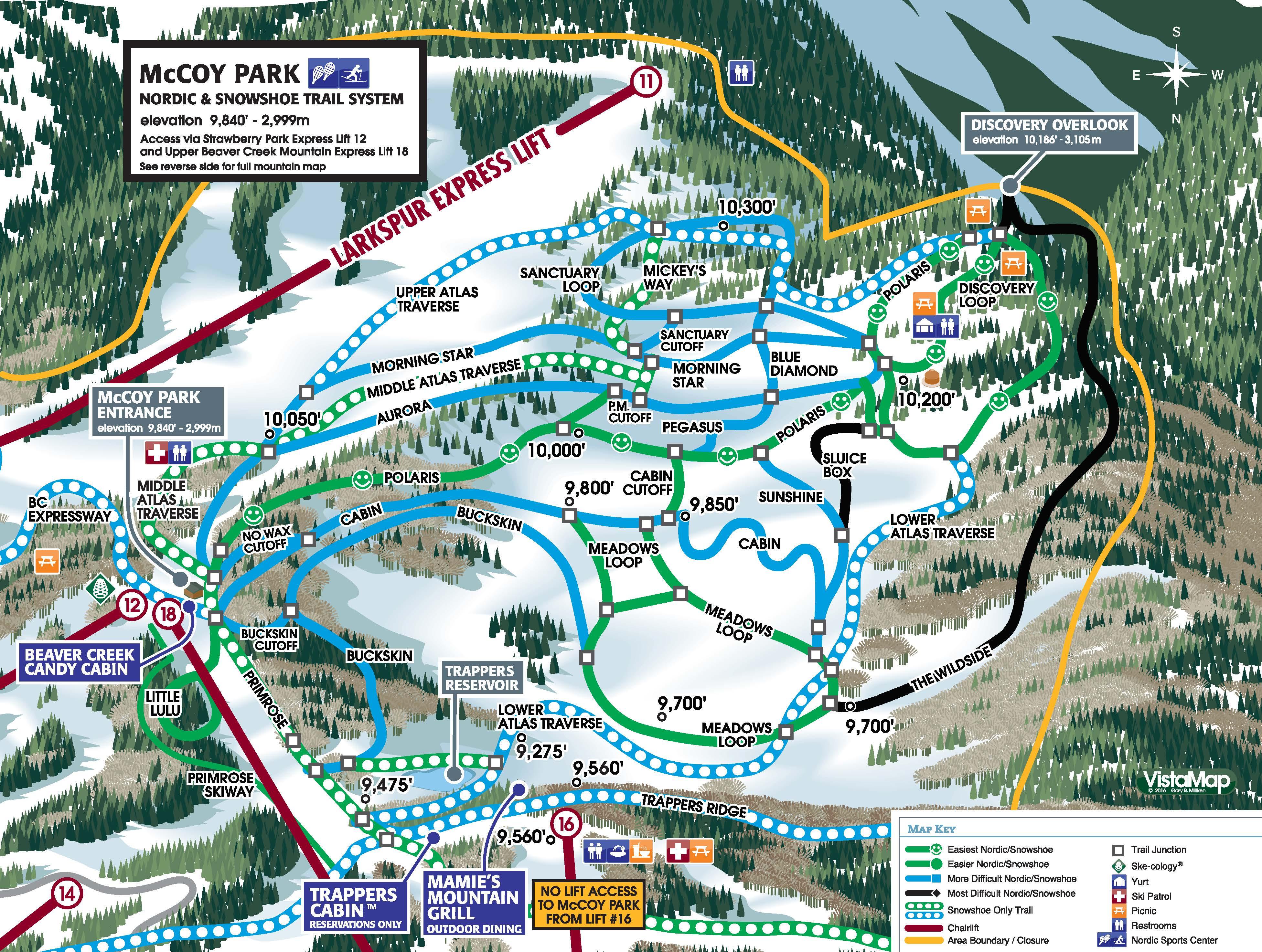 Breckenridge Trail Map Peak 9